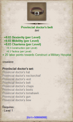 Provincial doctor belt
