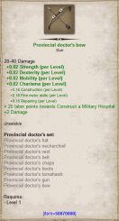 Provincial doctor bow
