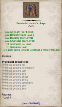 Provincial doctor chaps
