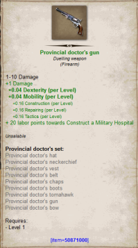 Provincial doctor gun