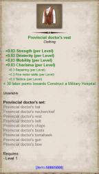 Provincial doctor vest
