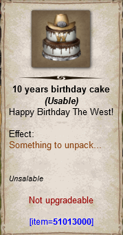 10 years brithday cake
